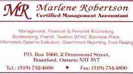 Accounting and bookkeeping category of the brantford business directory marlene robertson certified management accountant management financial personal accounting bookkeeping colourmoves